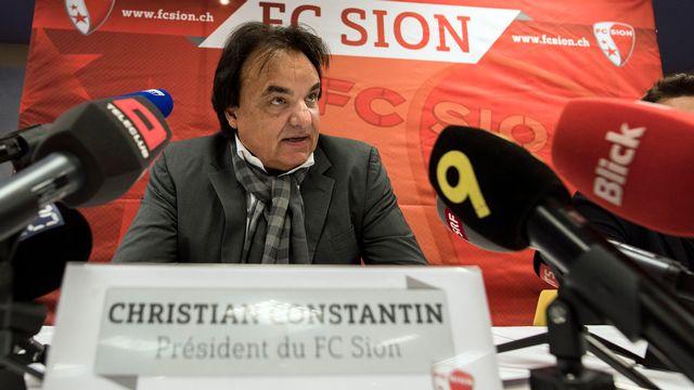 Le président du FC Sion Christian Constantin.  [Olivier Maire - Keystone]