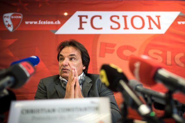 Christian Constantin s'est expliqué devant la presse vendredi. [Olivier Maire - Keystone]