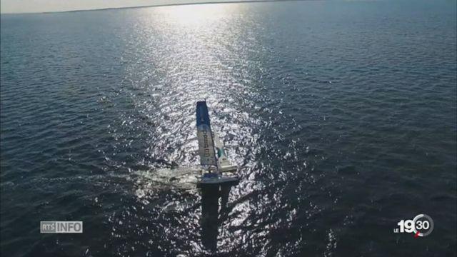 Yvan Bourgnon boucle son défi dans l'Océan Arctique [RTS]