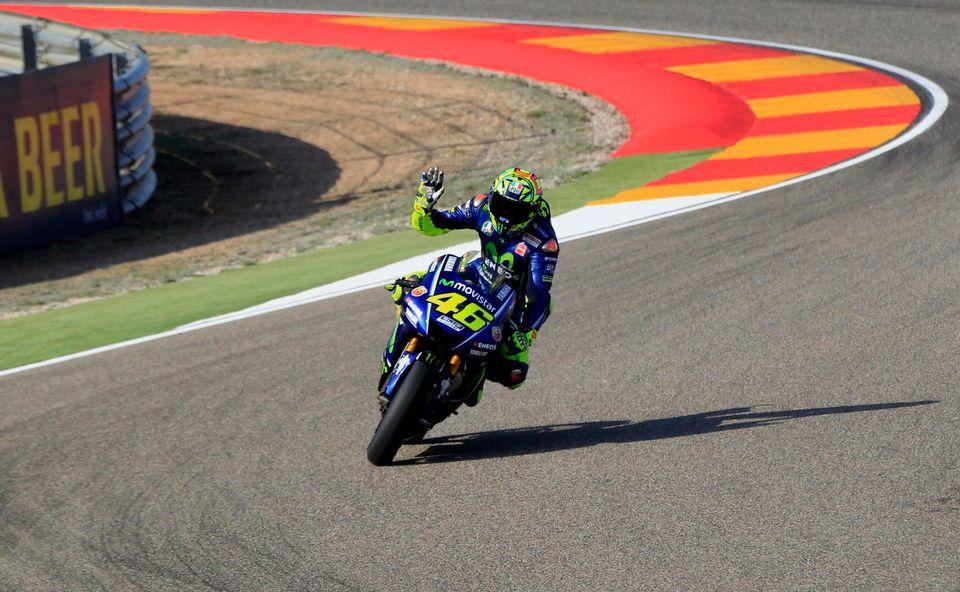 Même diminué, Rossi est parvenu à tirer son épingle du jeu. [Antonio Garcia - Keystone]