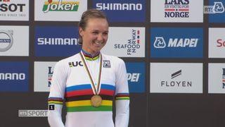 Championnats du monde, course dames: la remise des médailles [RTS]