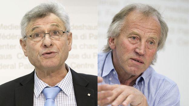 Jean-Pierre Grin et Fernand Cuche. [Keystone]