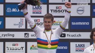 Championnat du monde, course messieurs: la joie du Slovaque pour son troisième succès historique sur le podium [RTS]