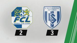 9e journée, Lucerne - Lausanne, 2-3: tous les buts de la rencontre [RTS]