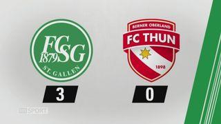 9e journée, Saint-Gall - Thoune, 3-0: tous les buts de la rencontre [RTS]