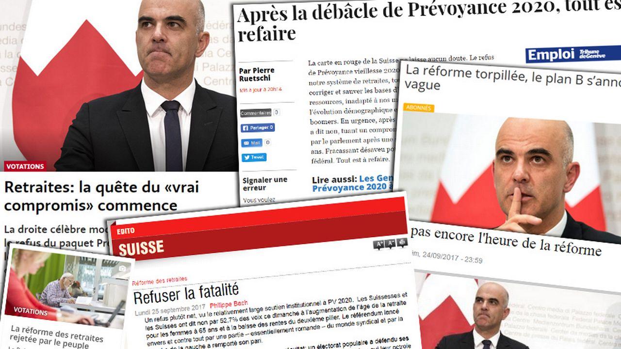 """La presse évoque la """"débâcle"""" de la Prévoyance 2020."""