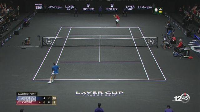 Tennis-Laver Cup: Federer a offert une victoire à l'Europe en s'imposant face à Nick Kyrgios [RTS]
