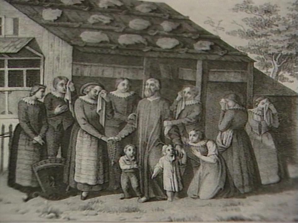 Nicolas de Flue prenant congé de sa famille. [RTS]