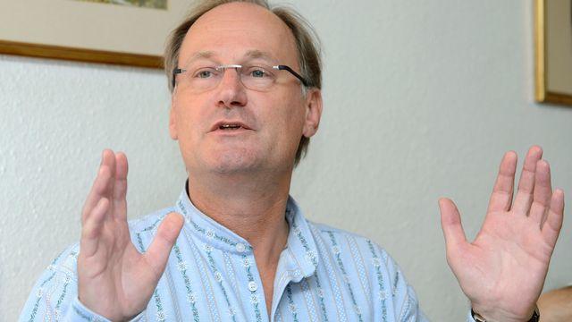 Le conseiller national est l'un des 3 candidats de l'UDC genevoise à l'élection au Conseil d'Etat. [Martial Trezzini - KEYSTONE]