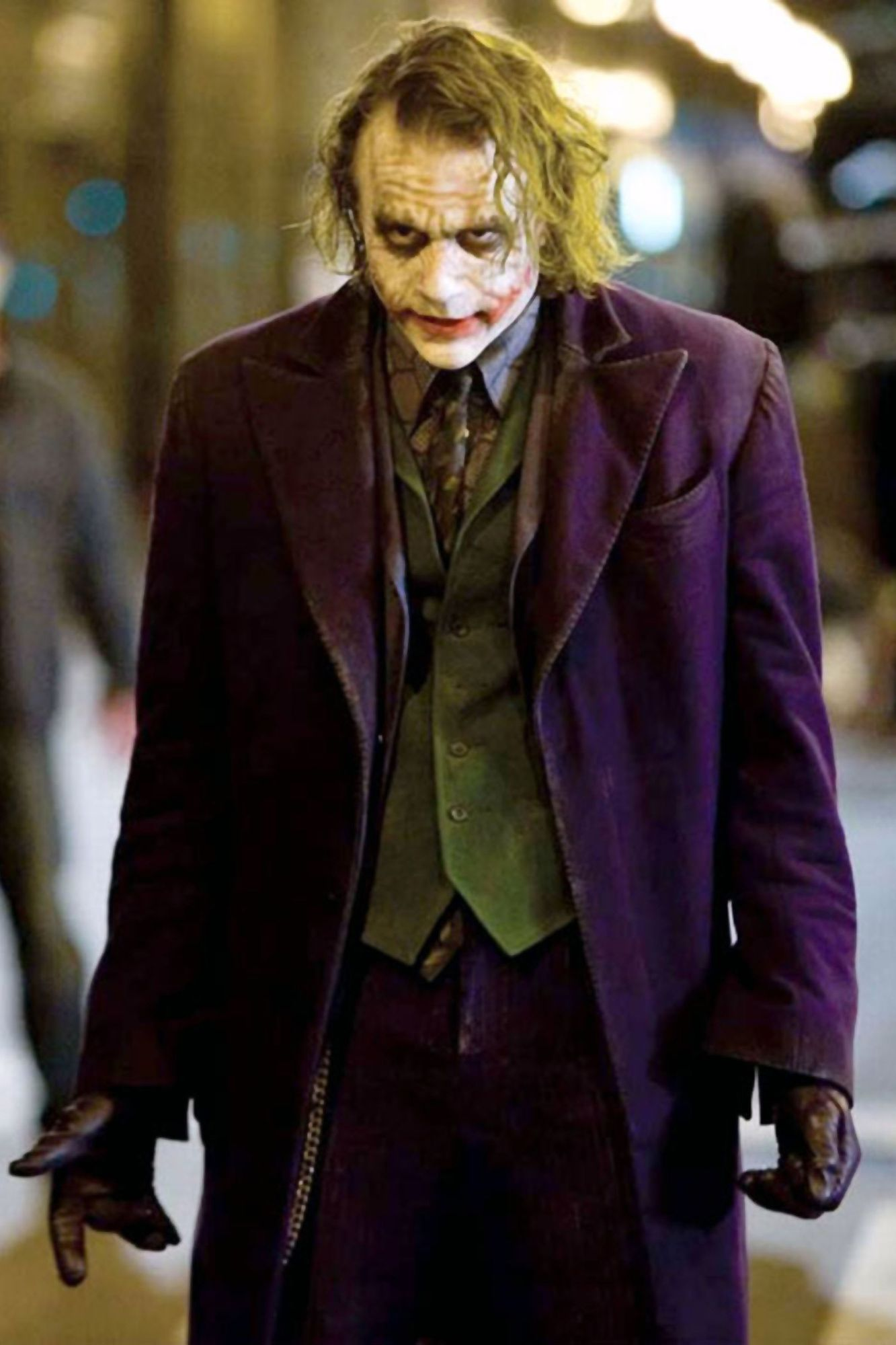 "Le Joker de ""The Dark Night"" de Christopher Nolan."
