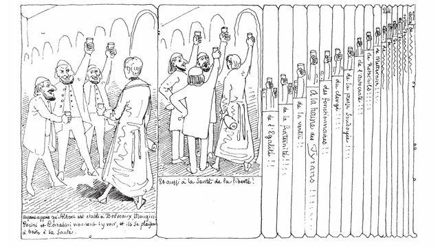Page 24 d'Histoire d'Albert par Rodolphe Töpffer [Wikimedia Commons]