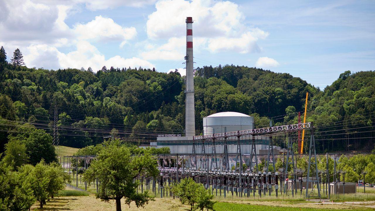 Mise en service en 1972, la centrale nucléaire de Mühleberg sera fermée en 2019. [Gaëtan Bally - Keystone]