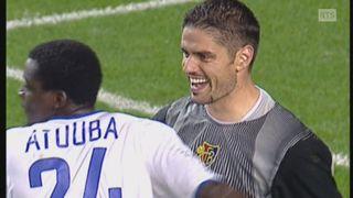 Timothée Atouba et Pascal Zuberbuehler avec le FC Bâle en 2002 [RTS]