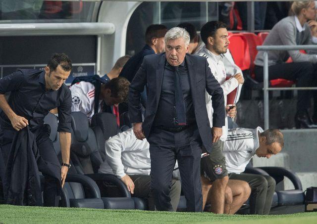 L'entraîneur du Bayern Carlo Ancelotti lors du match contre le Paris St. Germain de septembre 2017. Anke Waelischmiller/SVEN SIMON AFP [Anke Waelischmiller/SVEN SIMON - AFP]