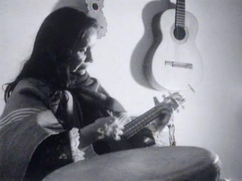 L'artiste chilienne Violeta Parra à Genève en 1965. [RTS]