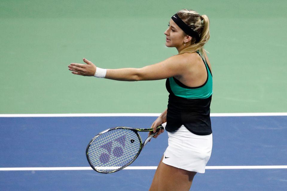 Belinda Bencic n'est pas parvenue à se qualifier pour une deuxième finale consécutive. [Peter Klaunzer - Keystone]