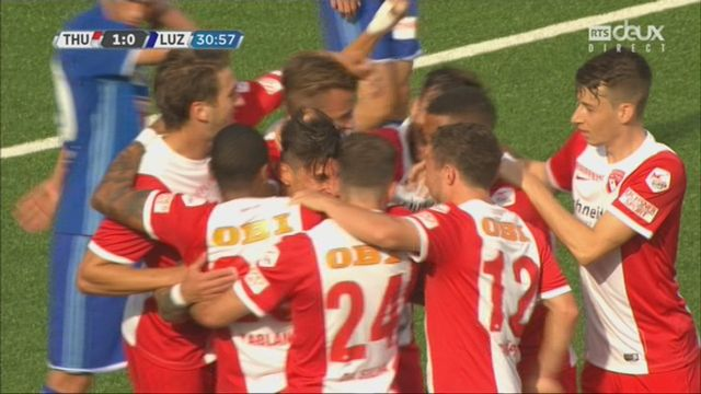 10e journée, Thoune - Lucerne 1-0: 31e Dennis Hediger [RTS]