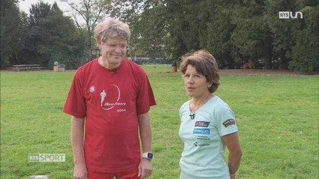 84e Morat-Fribourg: Daniel Rothen a fêté sa 40ème participation avec sa femme Margarita [RTS]