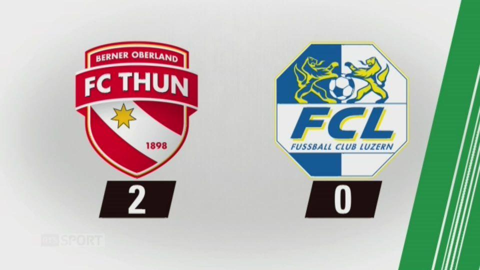 10e journée, Thoune - Lucerne, 2-0: tous les buts de la rencontre [RTS]