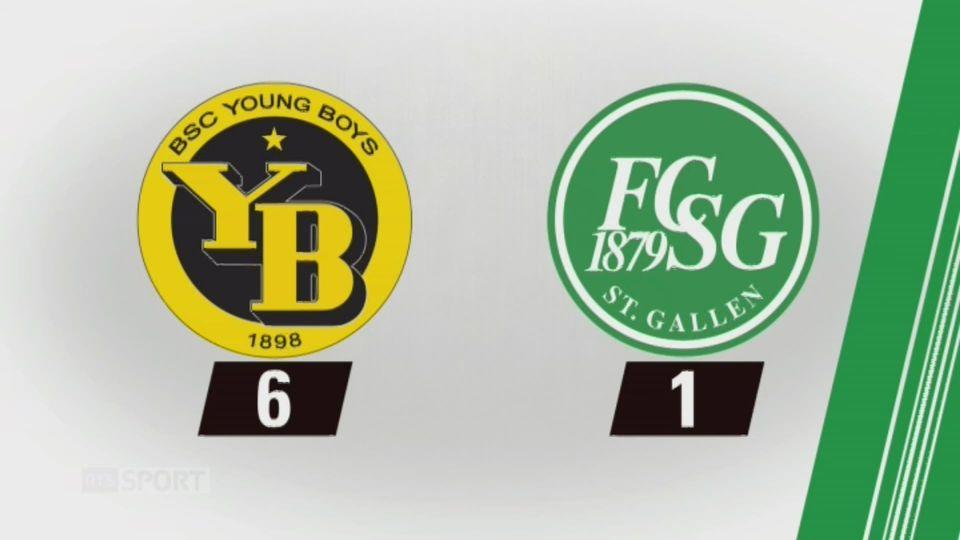 10e journée, Young Boys - Saint-Gall, 6-1: tous les buts de la rencontre [RTS]