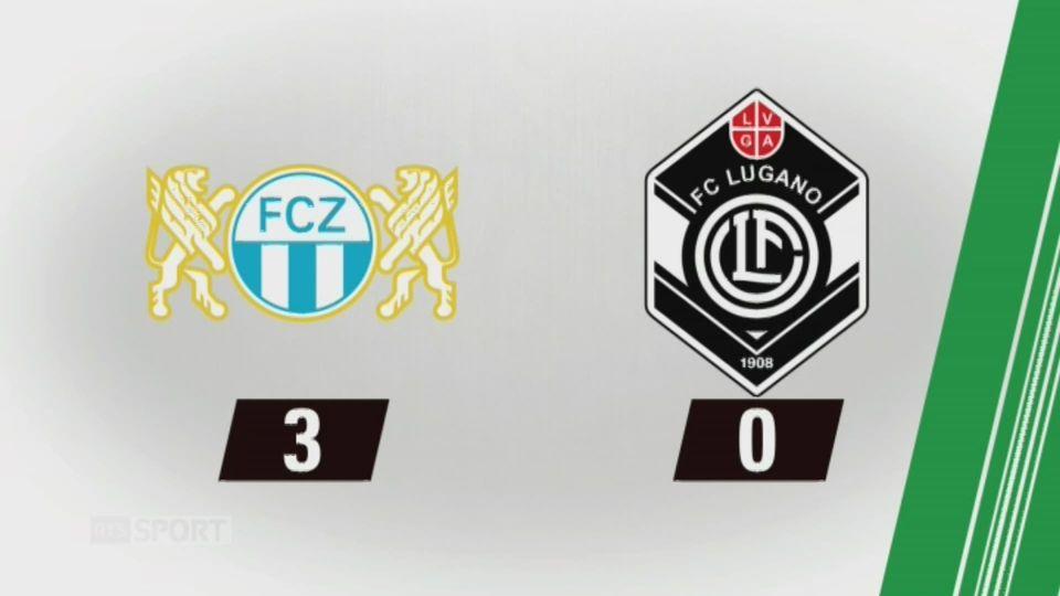 10e journée, Zurich - Lugano, 3-0: tous les buts de la rencontre [RTS]