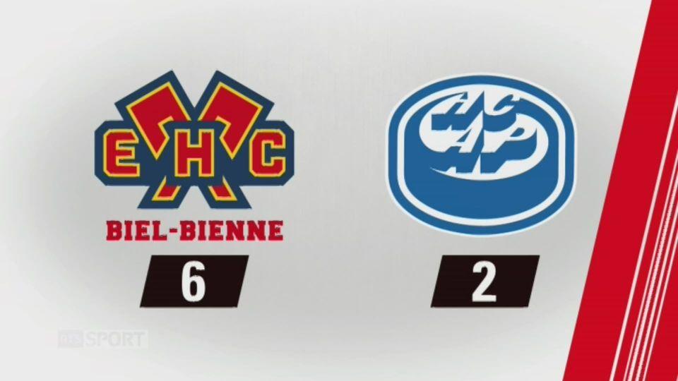 9e journée, Bienne - Ambri-Piotta, 6-2: tous les buts de la rencontre [RTS]
