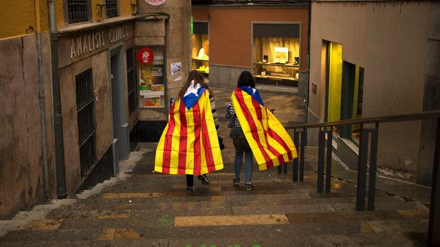 Le drapeau catalan. [AP Photo/Francisco Seco - keystone]