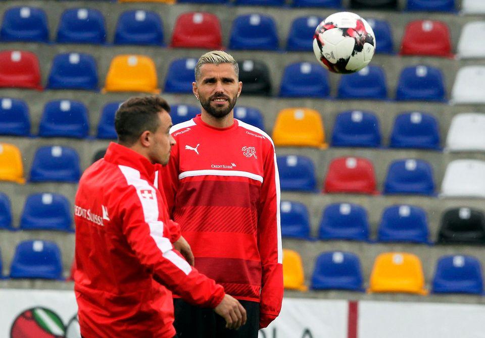 Behrami a dû être remplacé après 70' samedi lors du succès 4-0 de l'Udinese contre la Sampdoria. [Valda Kalnina - Keystone]