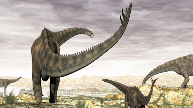 Une représentation 3D de dinosaures. [Elenarts - Fotolia]