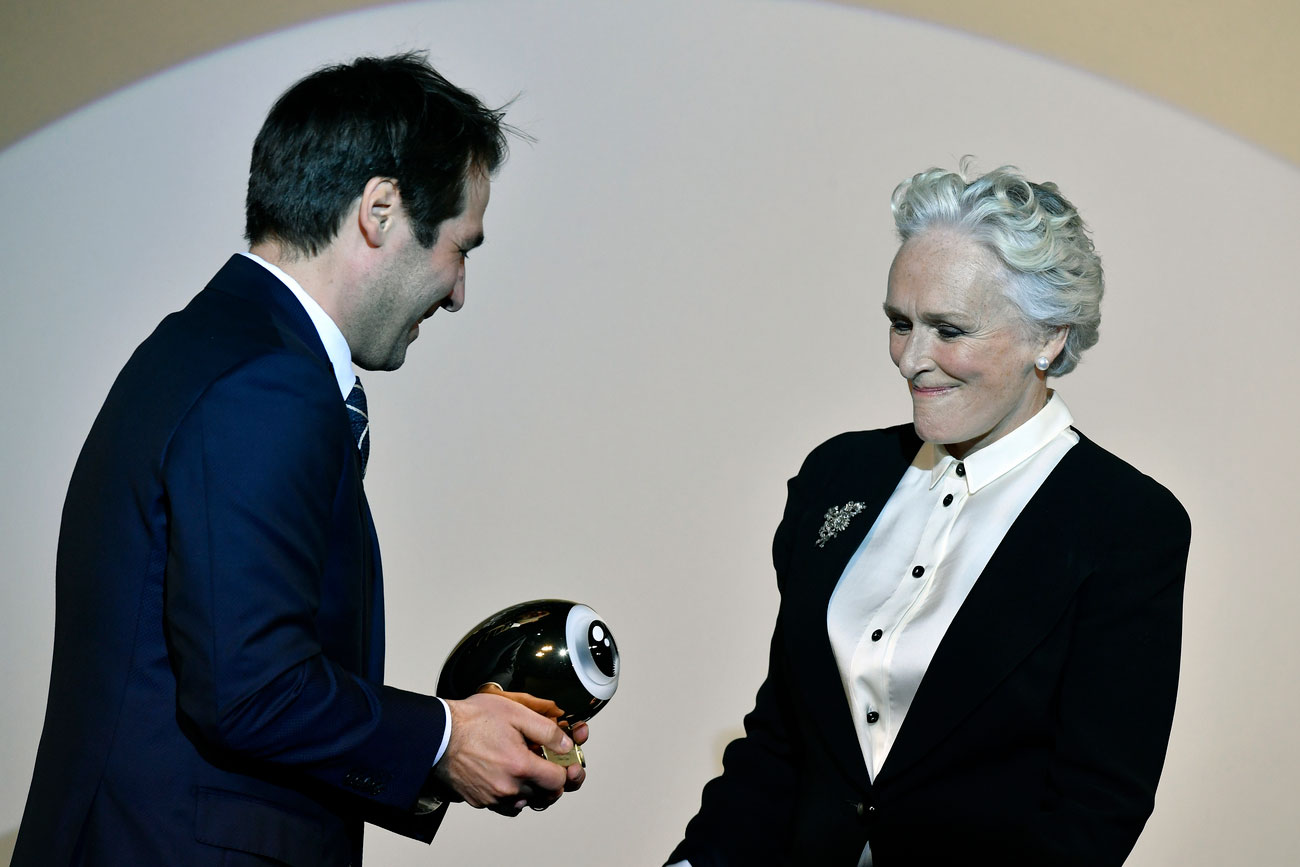 Glenn Close reçoit un Golden Icon Award au Festival de Zurich le 1er octobre 2017.