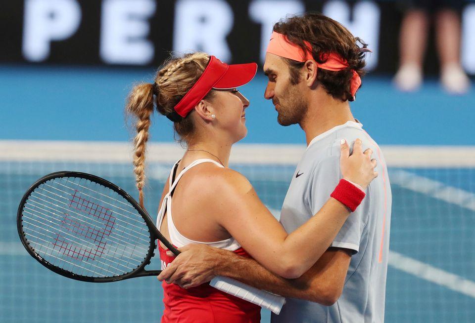 Bencic et Federer se retrouveront en début d'année. [Dave Shopland - EQ]