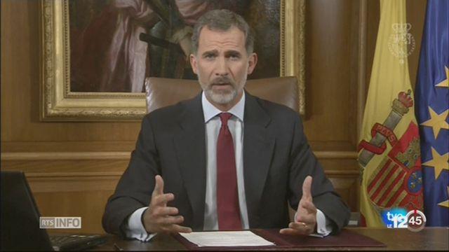 Crise espagnole: le roi Felipe très amer à l'égard des autorités catalanes [RTS]