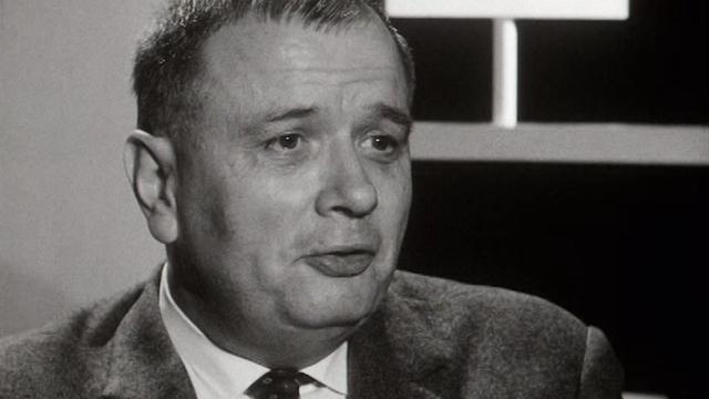 Le journaliste du Canard enchaîné Maurice Lebesque en 1965. [RTS]