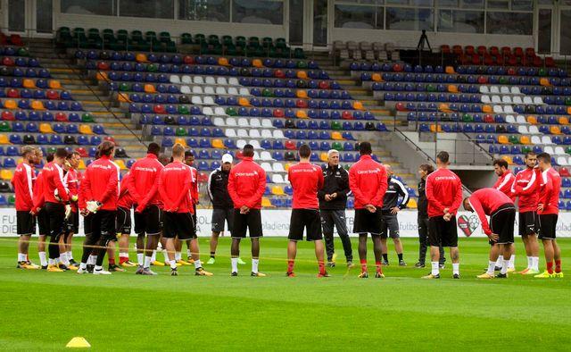 L'équipe de Suisse de football. [Valda Kalnina - EPA/Keystone]