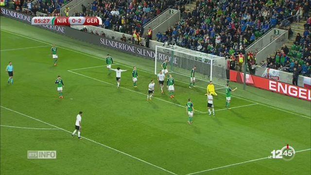 Football: l'Allemagne et l'Angleterre sont qualifiés pour le Mondial 2018 [RTS]