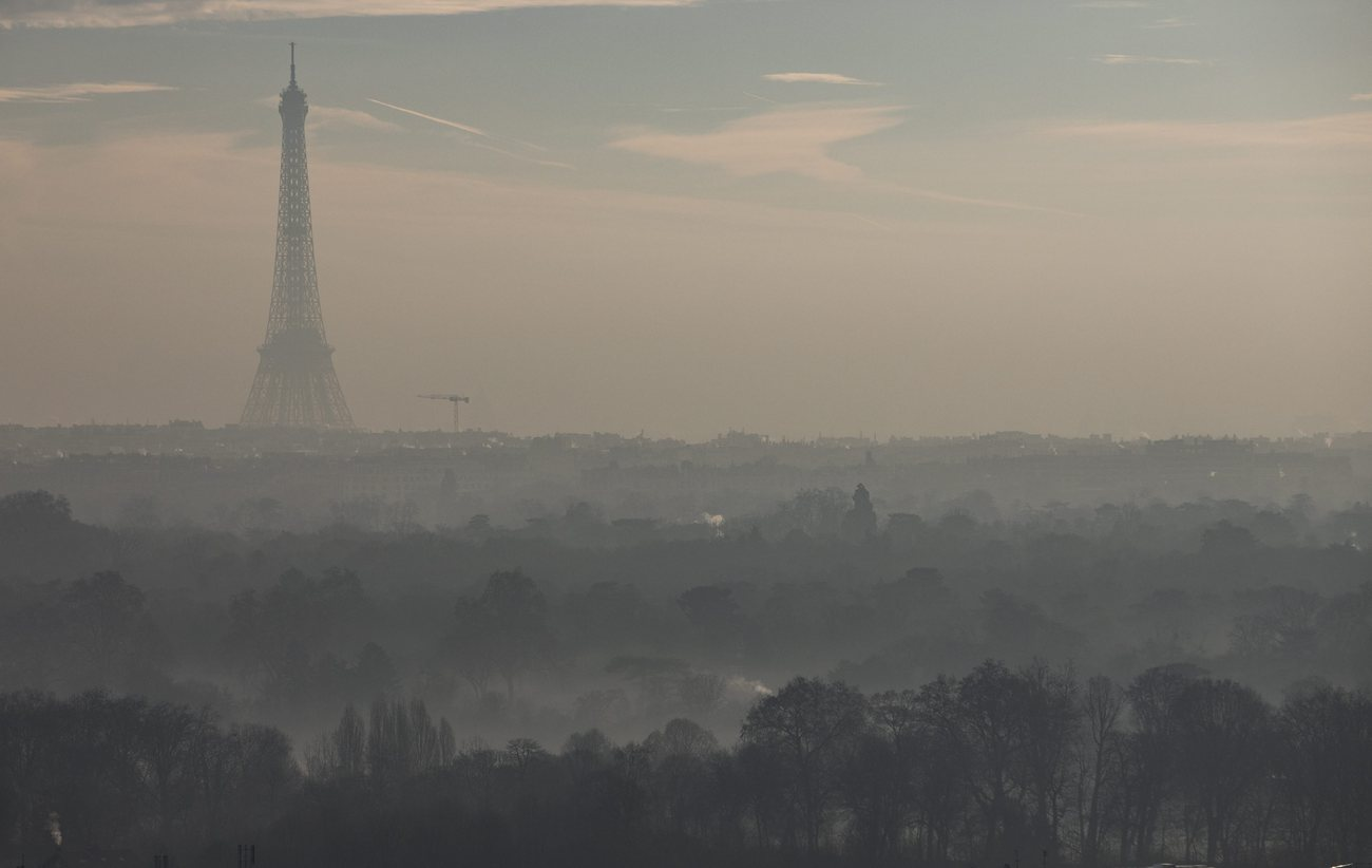 La ville de Paris lors d'un pic de pollution.