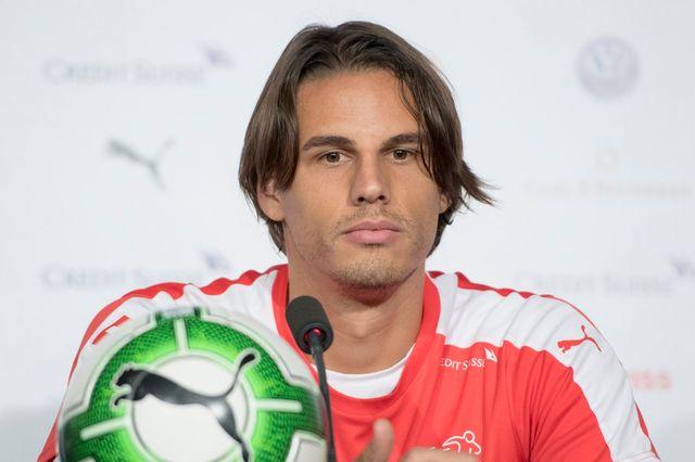 Le gardien de l'équipe suisse de football Yann Sommer lors de la conférence de presse avant le match contre la Hongrie. [Keystone]