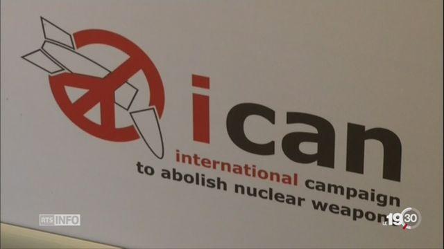 Prix Nobel de la paix: ICAN récompensée [RTS]