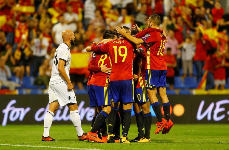 Les Espagnols seront en Russie l'été prochain. [Heino Kalis - Reuters]
