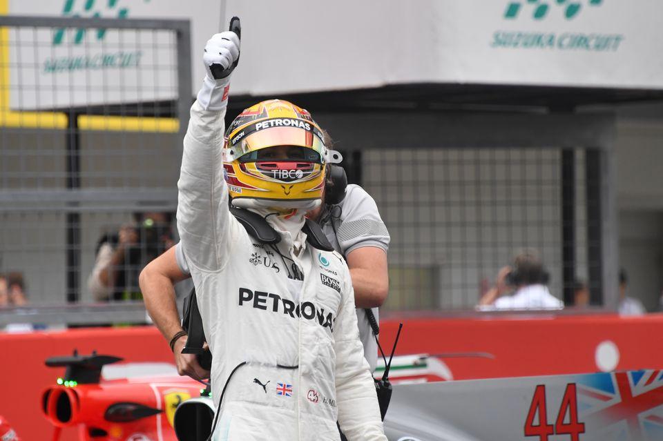 Hamilton sera difficile à battre dimanche en course. [Toshifumi Kitamura - AFP]