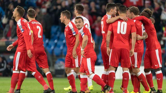 L'équipe de Suisse a régalé le public du Parc Saint-Jacques face à la Hongrie. [Georgios Kefalas - Keystone]