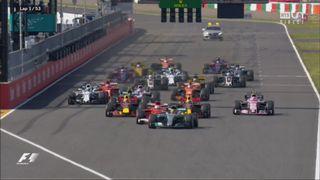 Le départ de la course, abandon de Carlos Sainz [RTS]