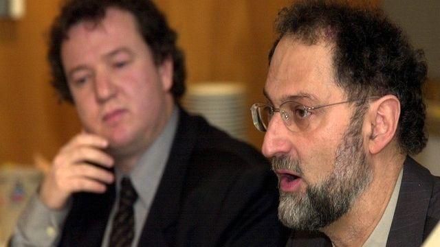 A droite, David Asséo, le délégué jurassien aux transports. [Markus Stuecklin - Keystone]