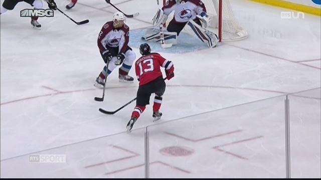 Hockey: Nico Hischier a disputé son premier match de NHL [RTS]