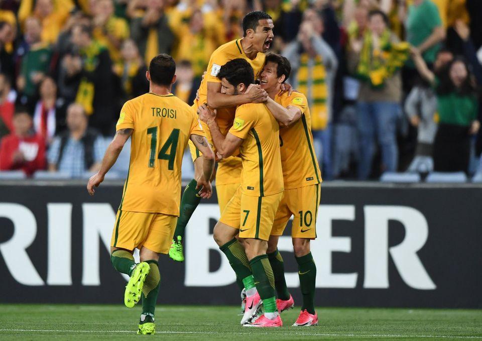 L'Australie s'est fait très peur face à la modeste équipe syrienne. [David Moir - Keystone]