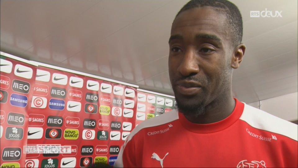 Qualifications, Portugal – Suisse (2-0): Johan Djourou au micro de RTSsport après le match [RTS]
