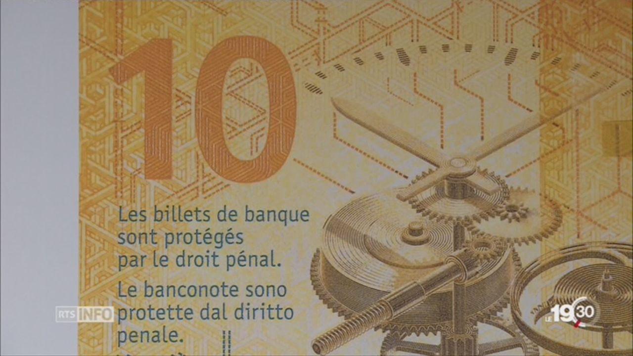 Nouvelles coupures: la BNS dévoile son nouveau billet de 10 CHF [RTS]