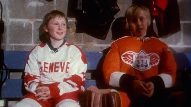 Un junior du Genève Servette HC au Tournoi Pee-Wee 1973. [RTS]