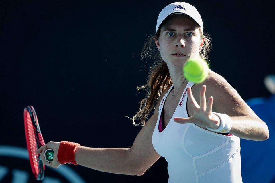Stefanie Vögele défiera Maria Sharapova pour la première fois vendredi. [Mark R. Cristino - Keystone]