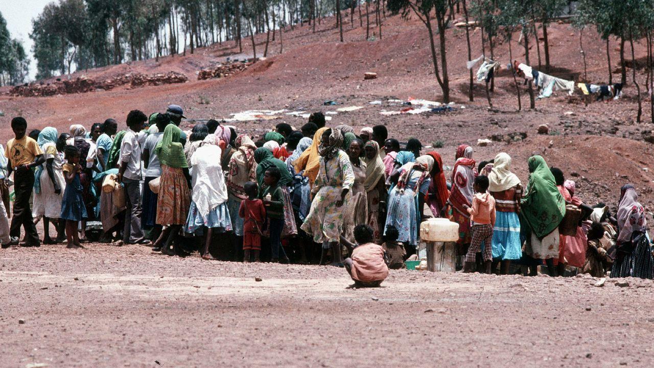 Un camp de réfugiés à Asmara, en Erythrée. [Roger Viollet - AFP]